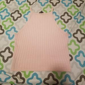 H&M pink ribbed tank top